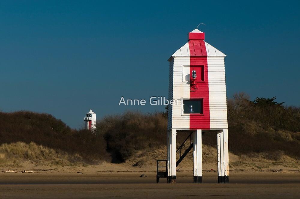 Burnham-on-Sea Lighthouses by Anne Gilbert