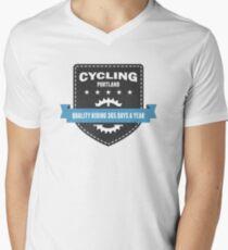 Cycling 365 Days a Year Mens V-Neck T-Shirt