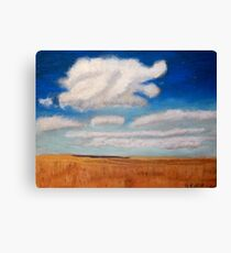 Big sky country with clouds Canvas Print