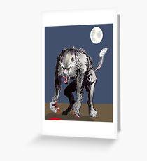 Beastial Werewolf Greeting Card