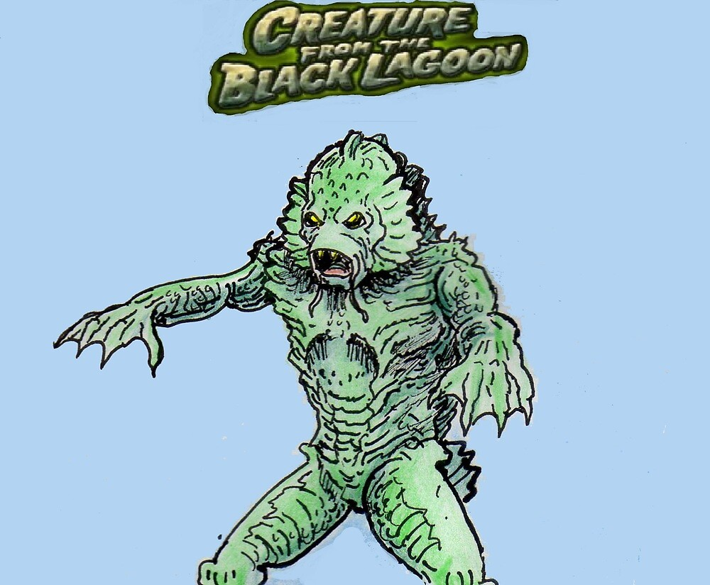 The creature from the black lagoon by mattycarpets