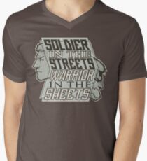 SPOILERS - Soldier in the Streets, Warrior in the Sheets Men's V-Neck T-Shirt