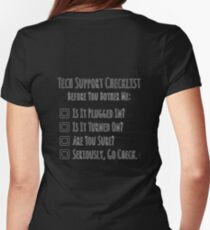 Tech Support Checklist Women's Fitted T-Shirt
