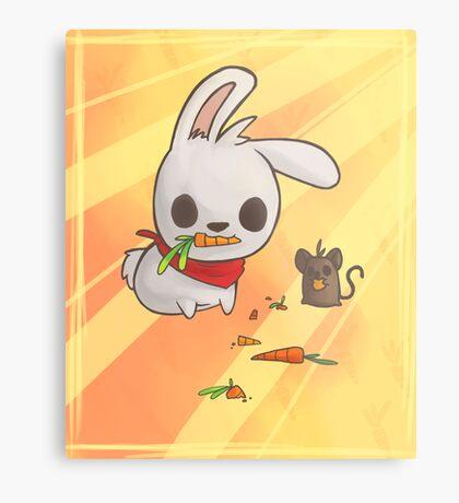 Bunny and Mouse Metal Print