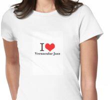 I heart Vernacular Jazz Womens Fitted T-Shirt