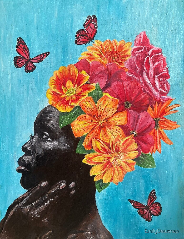 Fleur - Woman with Flowers in her Hair by EmilyDewsnap