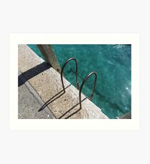 Ladder To The River Art Print