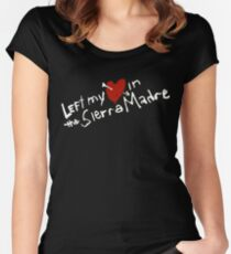 Left my heart  in the Sierra Madre Women's Fitted Scoop T-Shirt