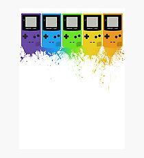 Gameboy Rainbow Tee Photographic Print