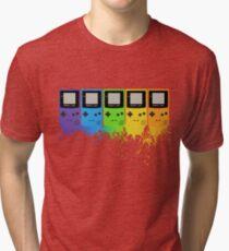 Gameboy Rainbow Tee Tri-blend T-Shirt