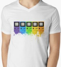 Gameboy Rainbow Tee Men's V-Neck T-Shirt