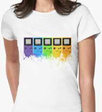 Gameboy Rainbow Tee Women's Fitted T-Shirt