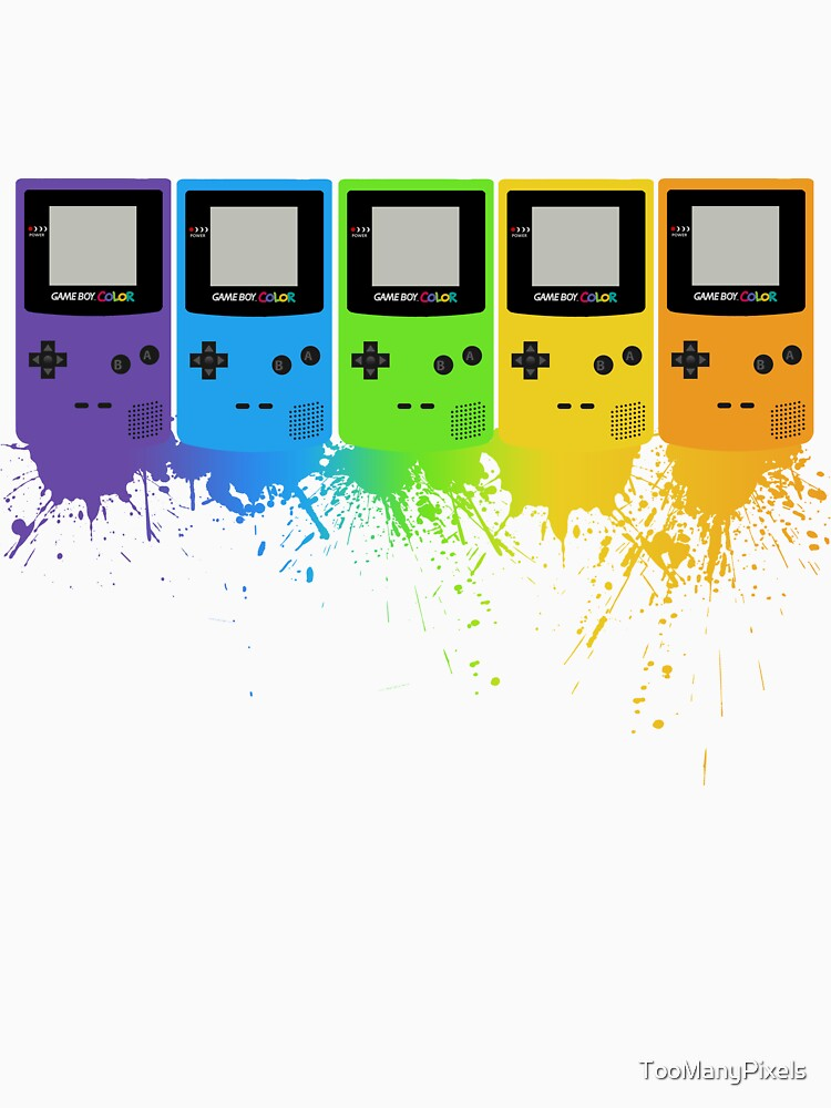 Gameboy Rainbow Tee by TooManyPixels