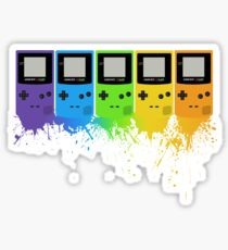 Gameboy Rainbow Tee Sticker