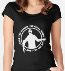 Zombie Survival Guide Women's Fitted Scoop T-Shirt