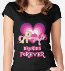 Bronies Forever 15 Women's Fitted Scoop T-Shirt