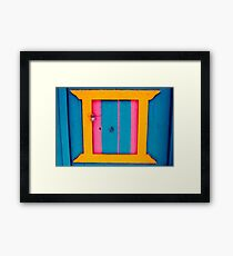 Klima door in Milos Framed Print