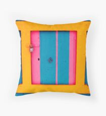 Klima door in Milos Throw Pillow
