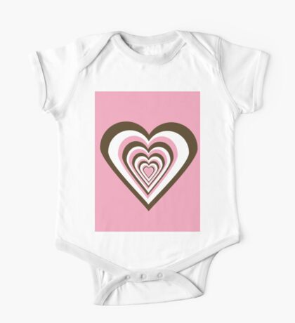 Pink, Brown and White Hearts Kids Clothes