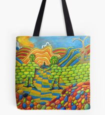 405 - THE WALL OF FRIENDSHIP - I - DAVE EDWARDS - COLOURED PENCILS & FINELINERS - 2014 Tote Bag