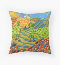 405 - THE WALL OF FRIENDSHIP - I - DAVE EDWARDS - COLOURED PENCILS & FINELINERS - 2014 Throw Pillow