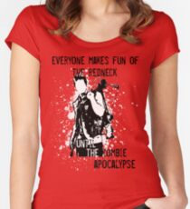 Everyone Makes Fun of the Redneck Until the Zombie Apocalypse Women's Fitted Scoop T-Shirt