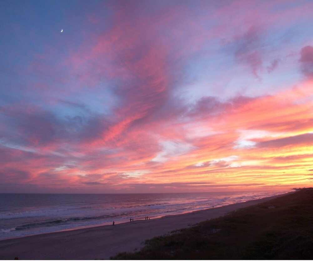 Fiery Outer Banks Sunset by Robert Angier