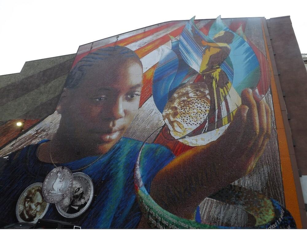Mural, Chestnut Street, Philadelphia, Pennsylvania   by lenspiro