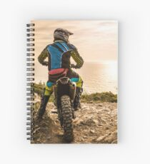 Enduro bike rider Spiral Notebook