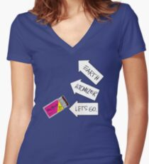 Big Black - Atomizer Shirt Women's Fitted V-Neck T-Shirt