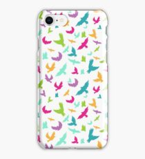 Vector illustration of Birds in seamless pattern iPhone Case/Skin