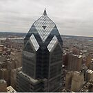 Aerial View of Philadelphia, One Liberty Observation Deck, Philadelphia, Pennsylvania by lenspiro