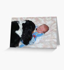 Grandson - David James Timothy & Charlie Girl  Greeting Card