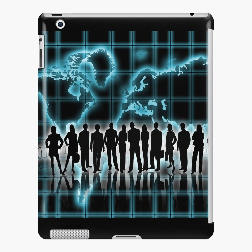 Silhouettes of men and women in business Funda y vinilo para iPad
