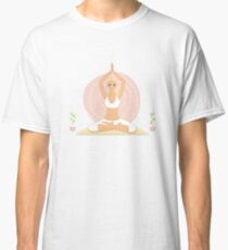 Beautiful woman doing yoga practice Classic T-Shirt