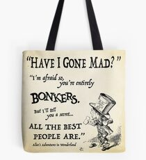 Bolsa de tela Alice in Wonderland Quote