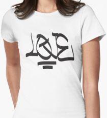 Love Graffiti Womens Fitted T-Shirt