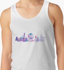 Orlando Future Theme Park Inspired Skyline Silhouette Tanktop für Männer