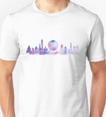 Orlando Future Theme Park Inspired Skyline Silhouette T-Shirt