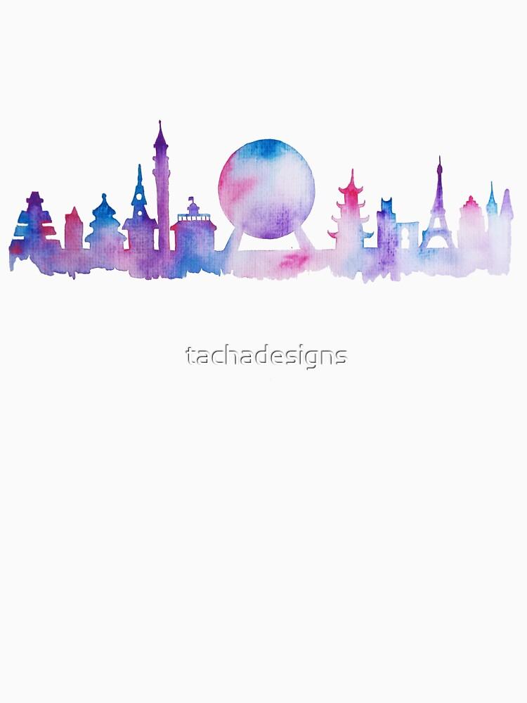 Orlando Future Theme Park Inspired Skyline Silhouette von tachadesigns