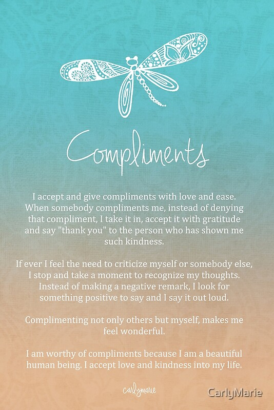 Quot Affirmation Compliments Quot By Carlymarie Redbubble