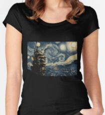 Howl's Stary Night Women's Fitted Scoop T-Shirt