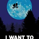UFO I want to believe E.T. the Extra-Terrestrial Spoof by Creative Spectator