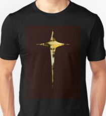 Cross-1 Red Leather T-Shirt