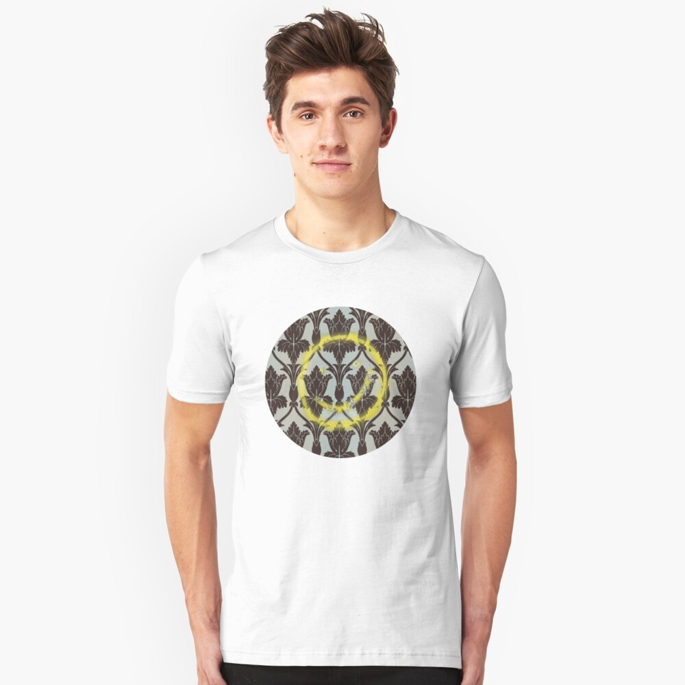 221b Wall Smiley Unisex T-Shirt Front