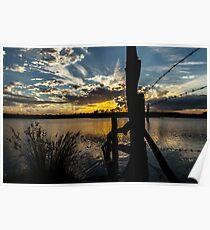 Gordonbrook Dam at Sunset Poster