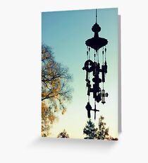 Cross Chimes  Greeting Card