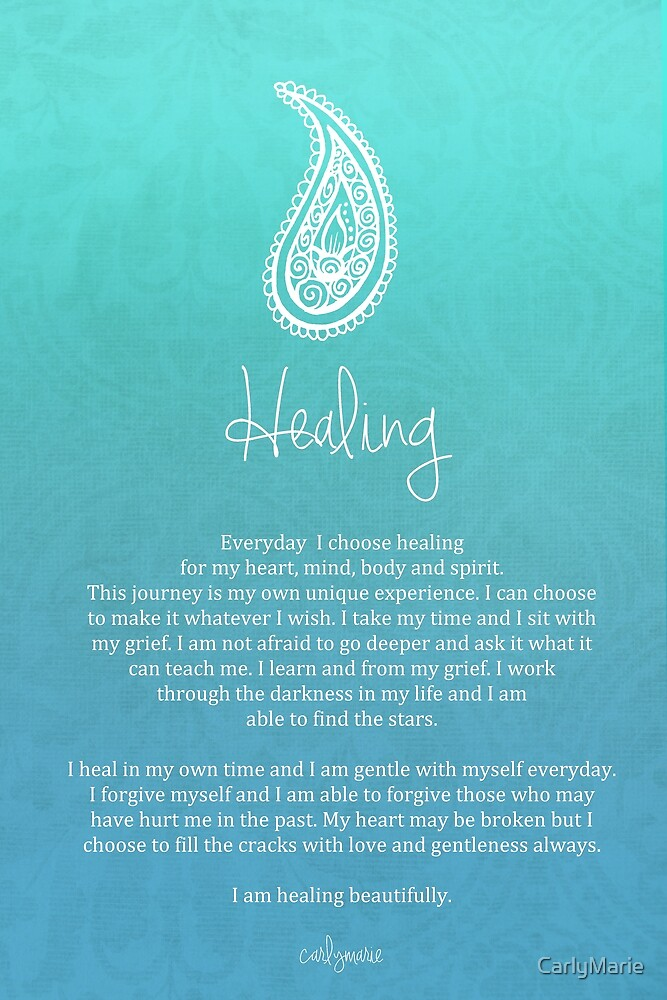 Quot Affirmation Healing Quot By Carlymarie Redbubble