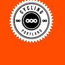 Cycling Portland White & Black by CyclingPortland