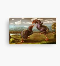 Gastornis Fight Canvas Print